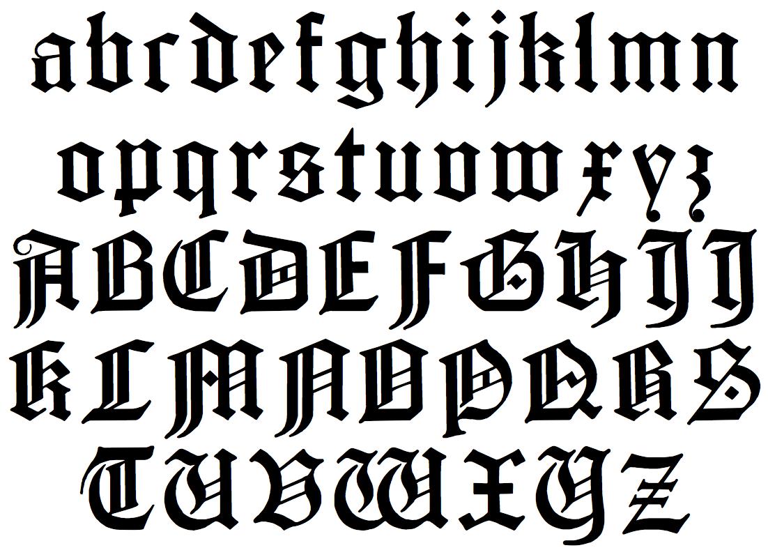 8 German Gothic Script Font Images German Gothic Font