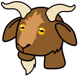 Goat Clip Art Icon