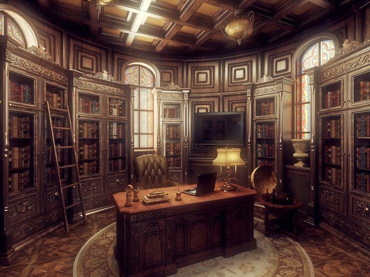 Gothic Interior Design Office