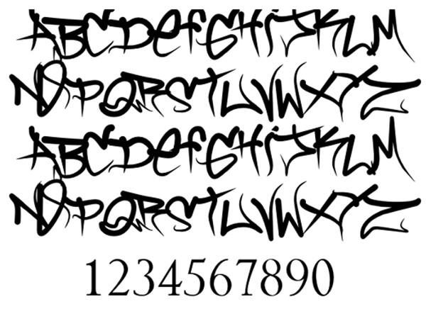 11 AZ Alphabet Graffiti Font Images