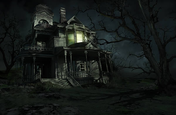 Haunted House Tutorial Photoshop