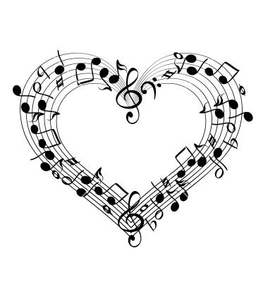 Heart Music Clip Art