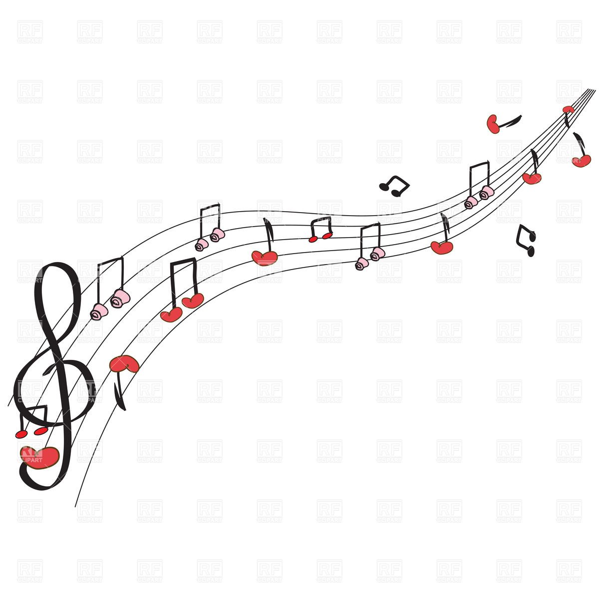 Heart Music Notes Clip Art Free