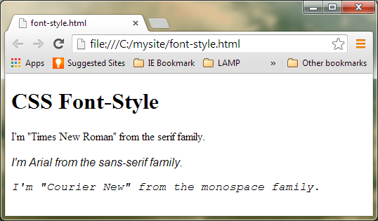HTML Font Style Codes