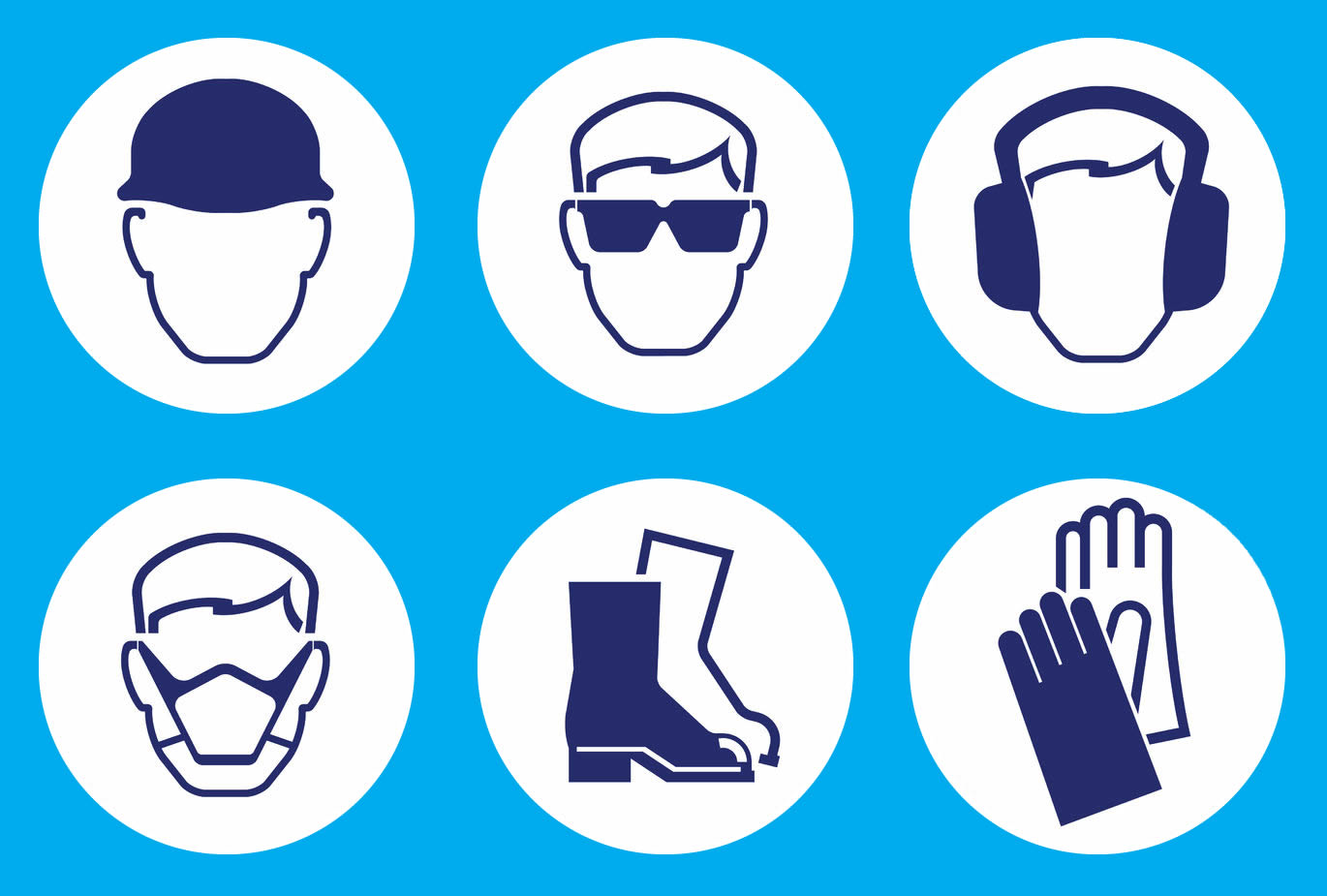 15 blue safety icon images