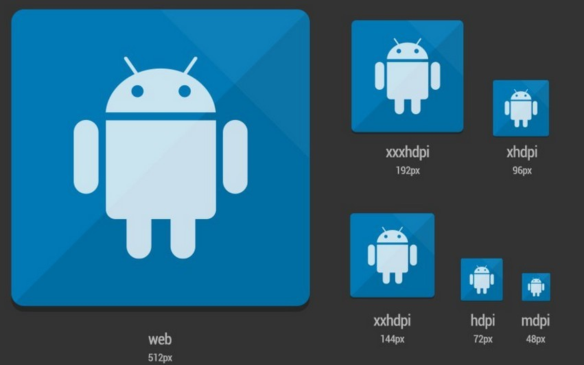 Launcher Android Icon Template PSD