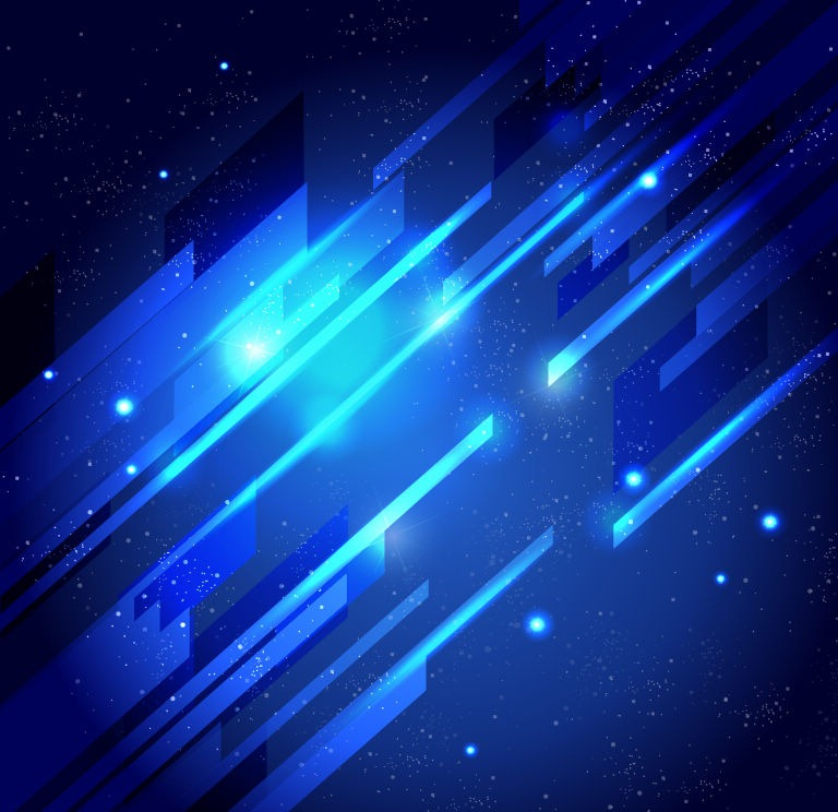 19 Blue Abstract Light Vector Images