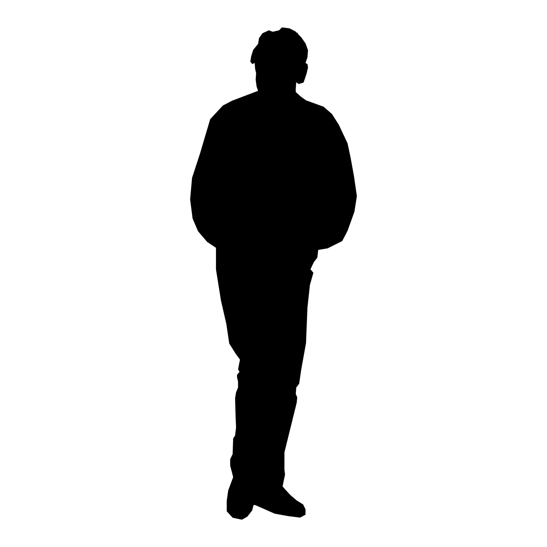 6 Silhouette Person Standing Icon Images