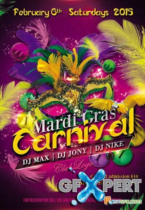 12 Mardi Gras PSDs Images - Mardi Gras Flyer Template Free, Mardi Gras ...