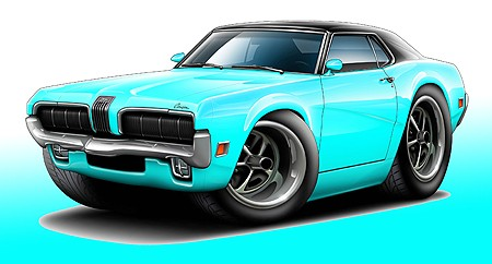 Mercury Cougar Muscle Car