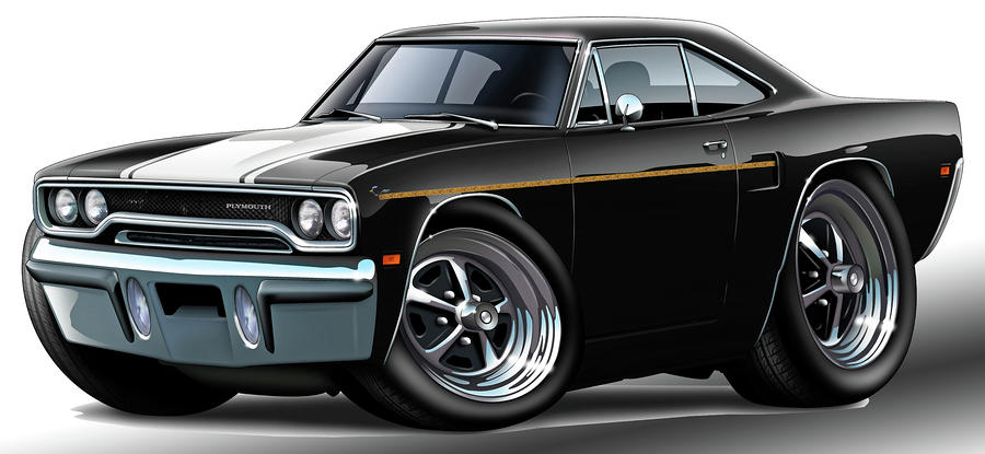 Muscle Car 1970 Road Runner Art
