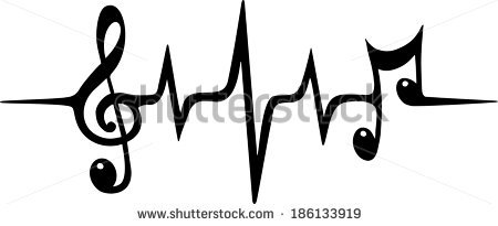 Music Note Wallpaper Vector Heart Beat