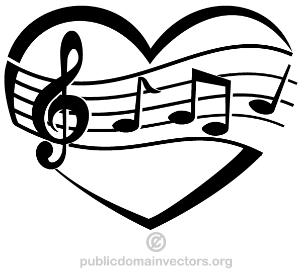 16 Heart Music Note Vector Images