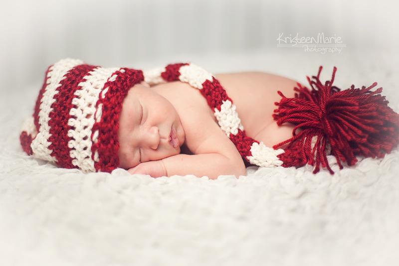Newborn Baby Boy Christmas Photography