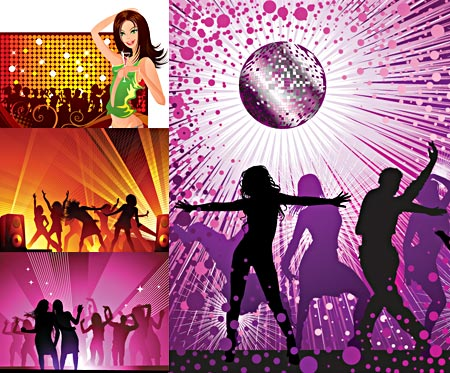 Party Girl Vector Graphics
