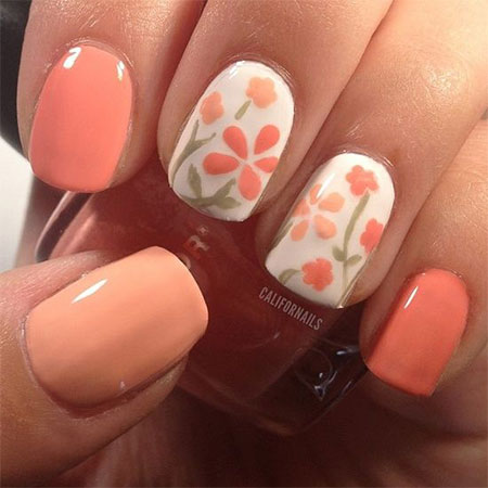 14 Simple Spring Nail Designs Images