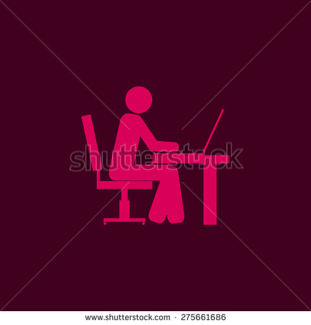 Person Behind Desk Icons