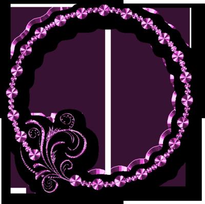 Pink Transparent Filigree Clip Art