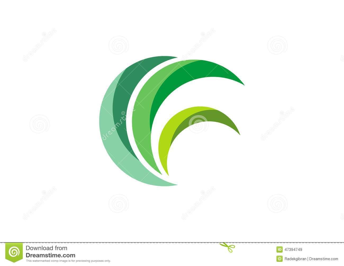 Plant with a Circle Logo Design