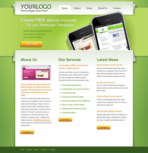 Portfolio Website Template PSD Free Download