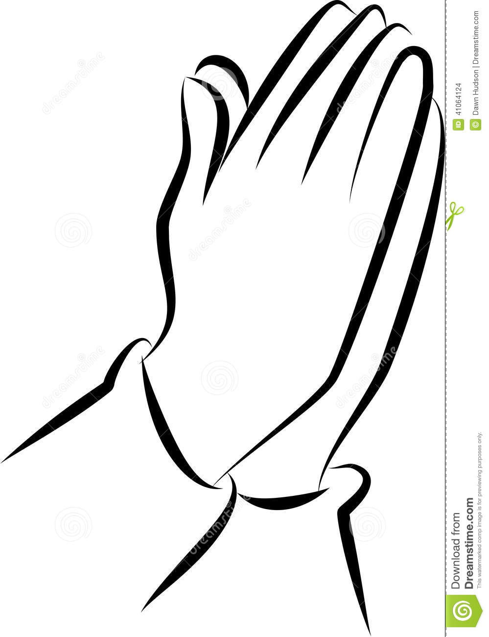 11 Simple Praying Hands Vector Images