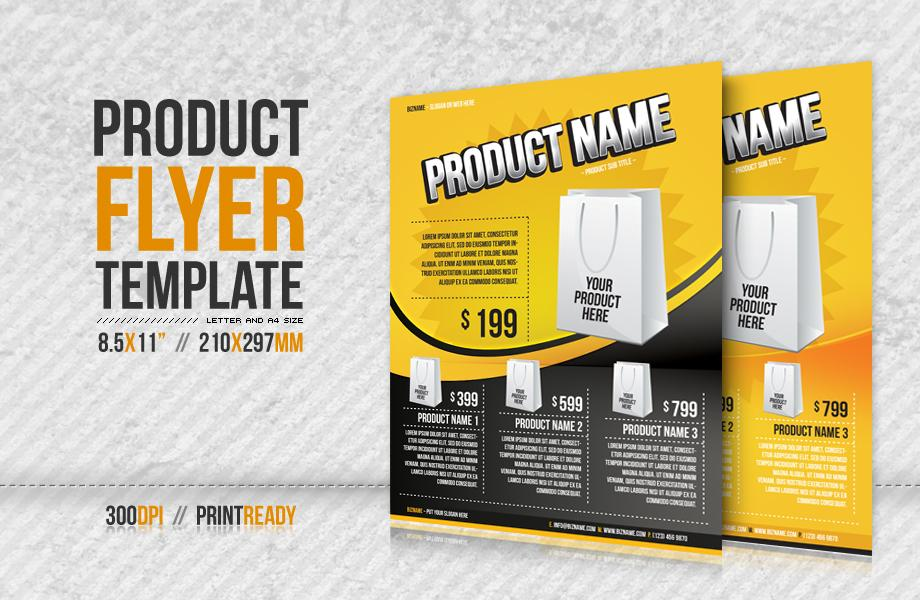new product specification template - 11 free psd product flyer template promotion images