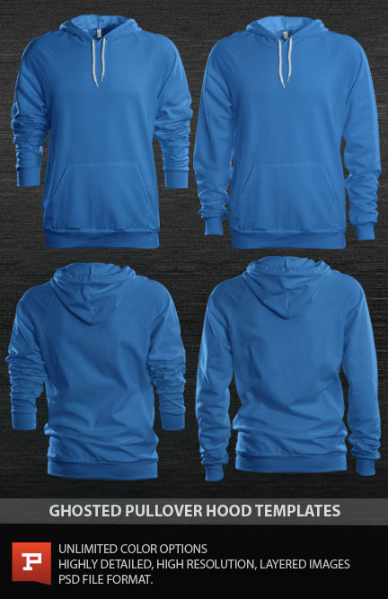 13 Hoodie Template PSD Images