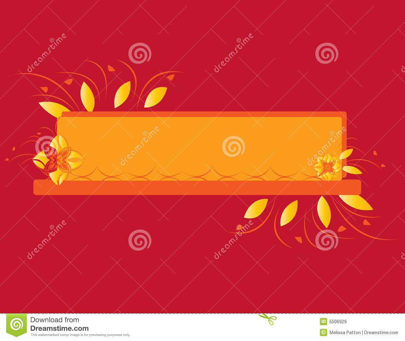 Red-Orange Yellow Flowers Design