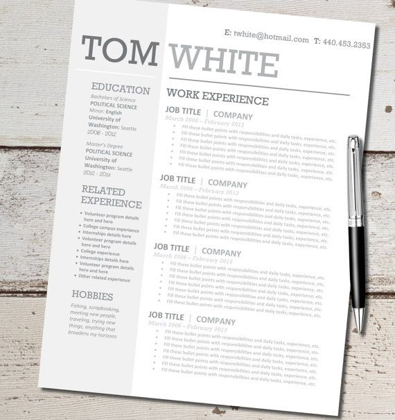 mircosoft word resume template
