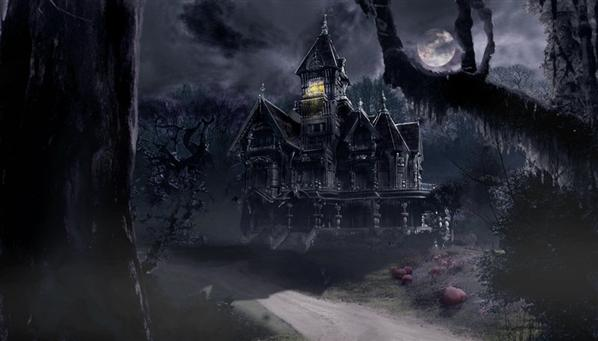 Scary Haunted House Storm Pictures