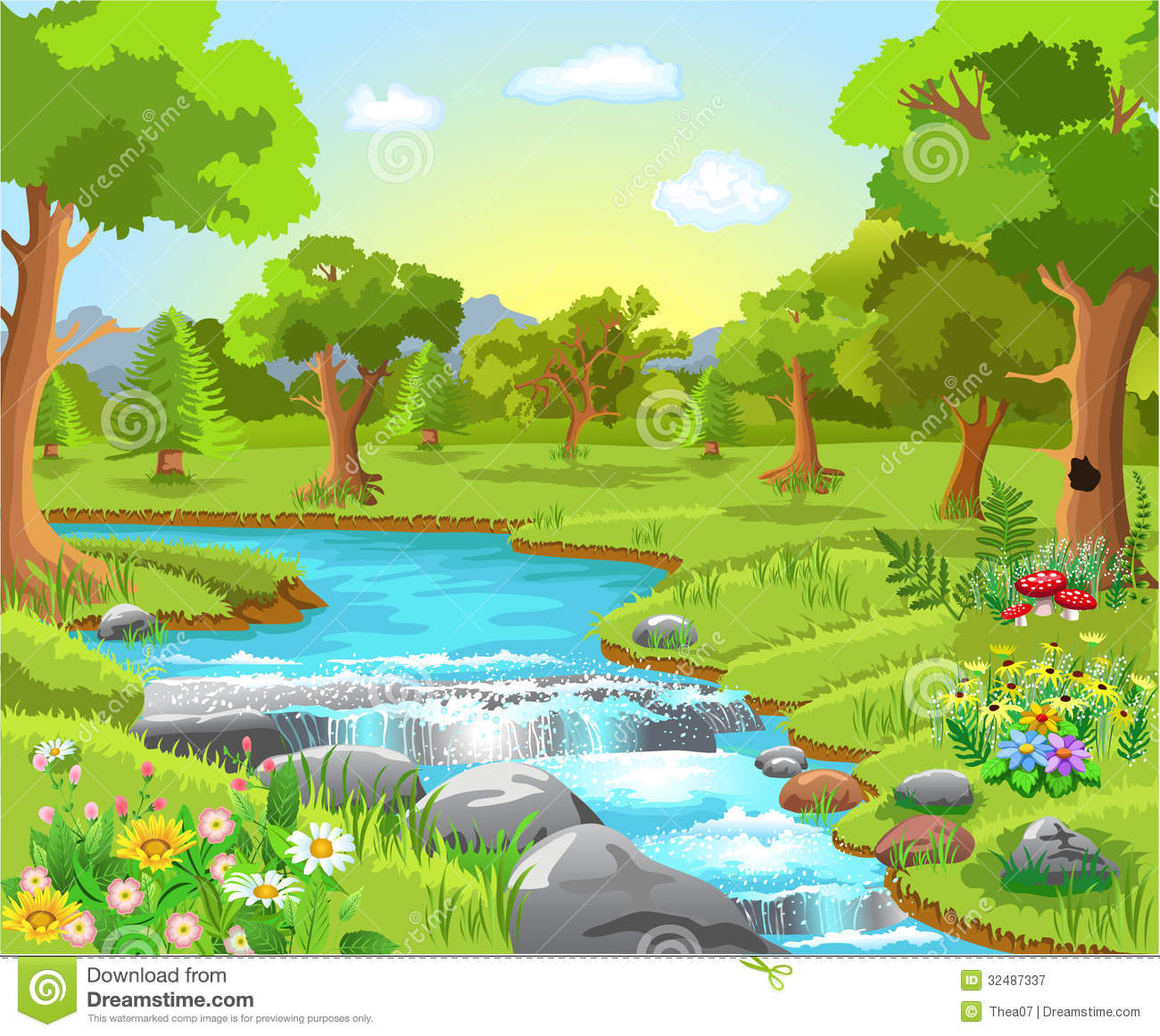 Spring Water Clip Art