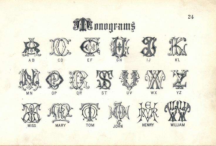 Vintage Leaf Font Alphabet Tattoo