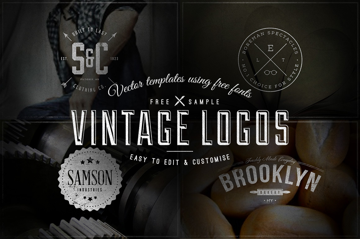 11 Vintage Free PSD Logo Template Images