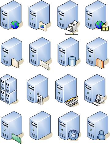 Virtual Server Visio Shape