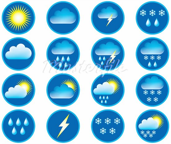 12 Channel Weather Forecast Icons Images