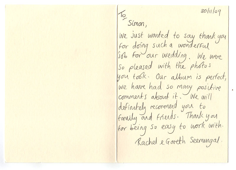 16 Thank You Letter Wedding Photographer Images