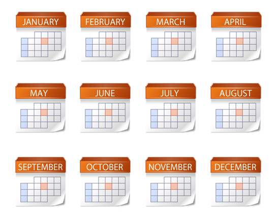 15 Yearly Calendar Icon Images