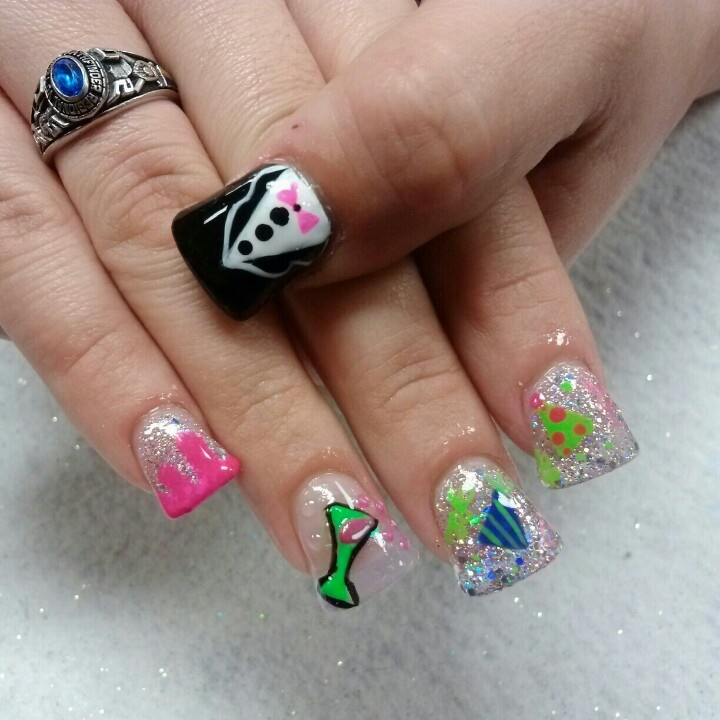 3D Duck Feet Nail Design
