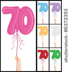 70th Birthday Clip Art