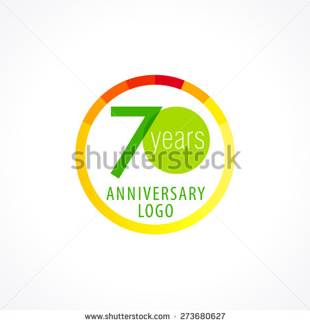 70th Birthday Template Vector