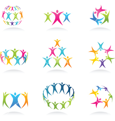 Abstract People Vector Icon Free