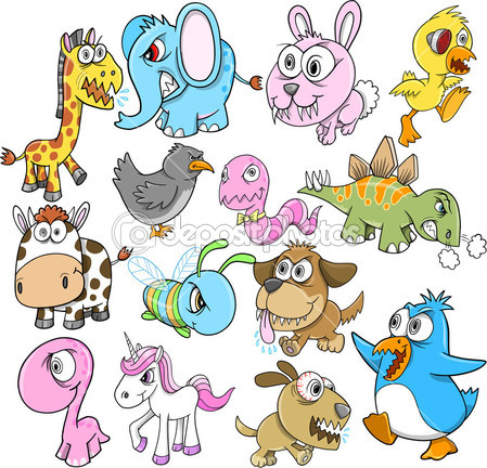 Angry Animals Clip Art