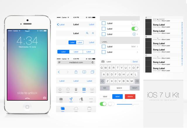 App for iOS 7 iPad UI Designs