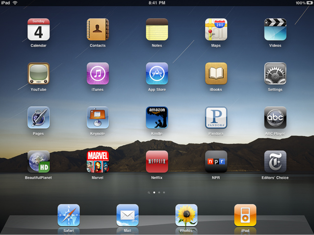 Apple iPad Home Screen Icons