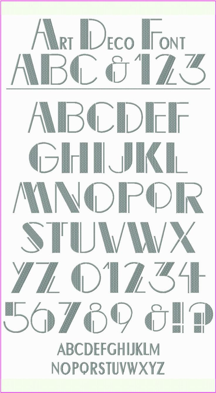 Art Lettering Designs : Art deco font styles examples images graphic