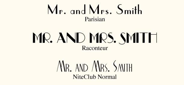 Art Deco Fonts Free
