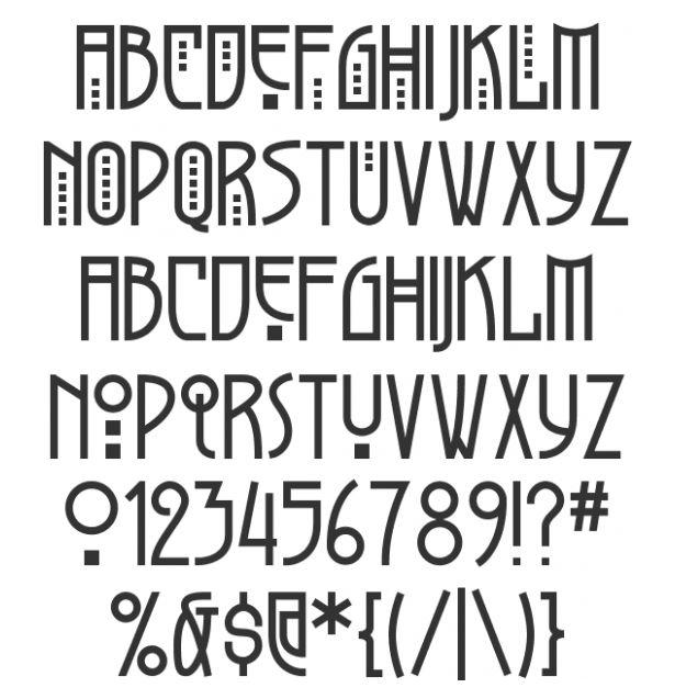 Art Nouveau Font