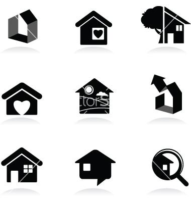 Black and White Real Estate Logos
