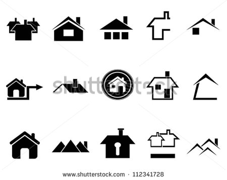 Black Vector House Icons