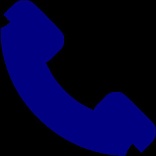 11 Navy Telephone Icon Images - Blue Phone Icon, Phone